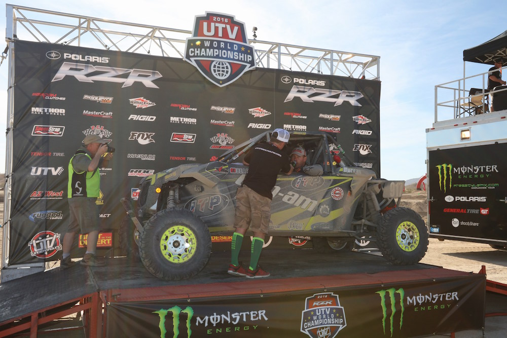 Team Murray at the 2016 UTV World Championship finish line