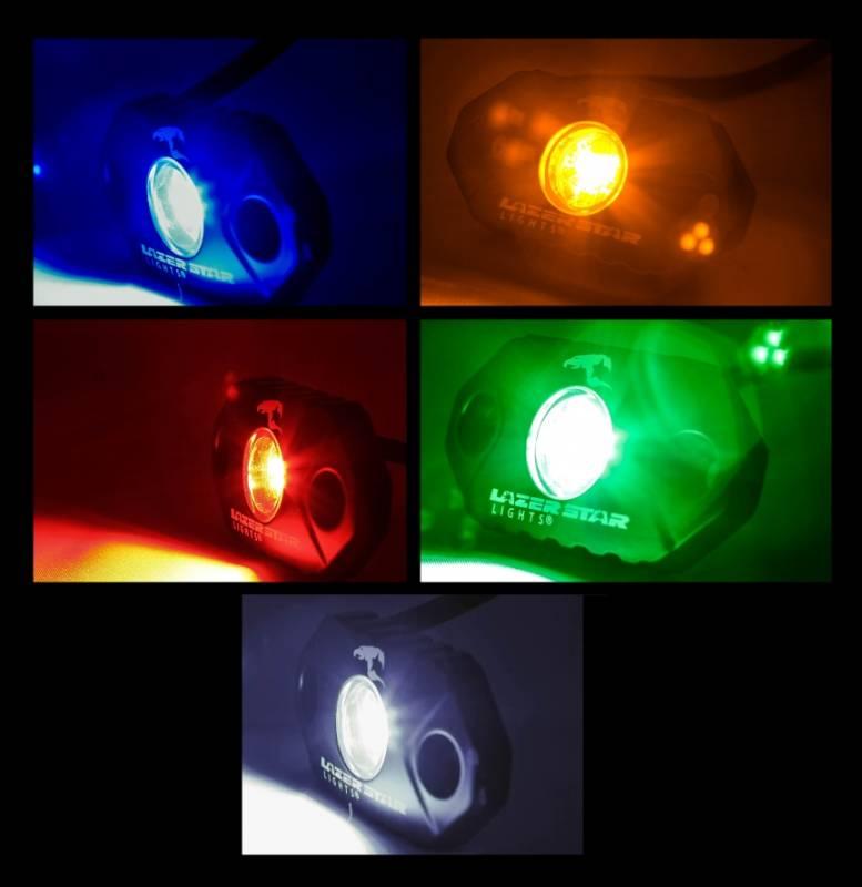 Lazer Star Istar Pod Single Green Led Accent Light 570206