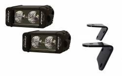 LX LED  - 6 Inch Enterprise 10 Watt Spot Jeep Kit 5591002 A-Pillar Windshield Bracket