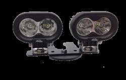 LX LED  - 4 Inch 10 Watt Spot 2 LED 9993023 LX ATV Handlebar Kit