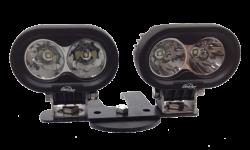 LX LED  - 4 Inch 10 Watt Spot 2 LED 9993033 LX ATV Handlebar Kit