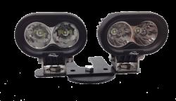 LX LED  - 4 Inch 10 Watt Spot 2 LED 9993043 LX ATV Handlebar Kit