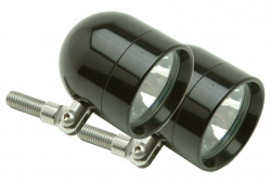 Lazer Star Billet Lights - 35 Watt Pivot Mount ATVK4235 Black Shorty Halogen Light