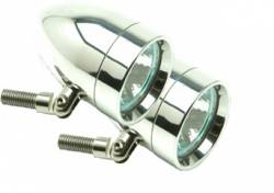 Lazer Star Billet Lights - 50-Watt Spot Pivot Mount Polished LSK1150 Bullet
