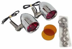 Lazer Star Billet Lights - Red And Amber Pivot Mount LSK3820RA Micro-B  Chrome