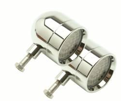 Lazer Star Billet Lights - Amber Rigid Mount Chrome  LSK4801A-R Shorty