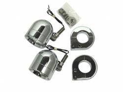 Lazer Star Billet Lights - 50-Watt Spot Pivot Mount Chrome LSK4850-125 Shorty