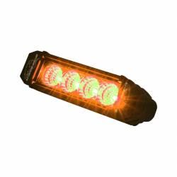 LX LED  - 6 Inch Atlantis 3 Watt Spot 4 LED 13040104 Amber LED