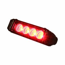 LX LED  - 6 Inch Atlantis 3 Watt Flood 4 LED 13040205 Red LED