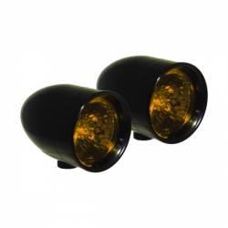 Lazer Star Billet Lights - Amber Rigid  Mount Black LSK1220A-R Bullet