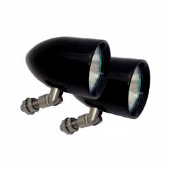 Lazer Star Billet Lights - 100-Watt Flood Pivot Mount Black LSK121002 Bullet