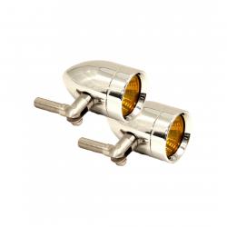 Lazer Star Billet Lights - Amber Pivot Mount Chrome LSK3820A Micro-B
