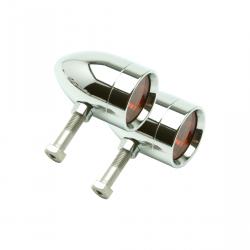Lazer Star Billet Lights - Amber Rigid  Mount Chrome LSK3820A-R Micro-B