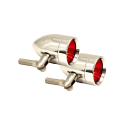 Lazer Star Billet Lights - Red Pivot  Mount Chrome LSK3820R Micro-B