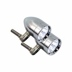 Lazer Star Billet Lights - 35-Watt Flood Pivot Mount Polished LSK31352 Micro-B