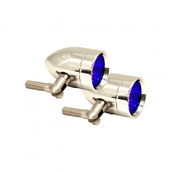 Lazer Star Billet Lights - Blue Pivot Mount Polished LSK3120B Micro-B