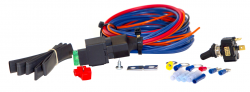 Lazer Star Billet Lights - 12 Ft. On/Off Road Wire Kit with Relay for 1 Light LSW1210