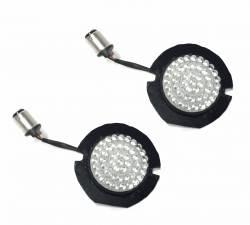 Lazer Star Billet Lights - Amber Full Face LED Retro Fit LEDSK53-156A