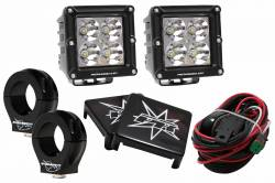 """Dominator LED - 5-Watt Dominator Cube UTV Kit with 2.0"""" Clamps - Wire Kit Included"""