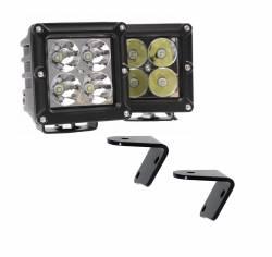 Dominator LED - 4 Inch Dominator 5 Watt Cube Jeep Kit Spot 4 LED 55772504