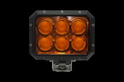LX LED  - 20 Watt 2x3 40° Amber Lens Flood LXh LED