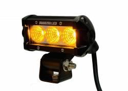 Dominator LED - Amber 4 Inch Dominator 3 Watt Single Row Flood 3 LED 7713040204