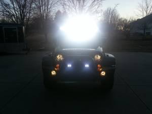 LX LED  - 6 Inch Endeavour 3 Watt Spot 8 LED 23080 Racer Special Amber/White LED - Image 8