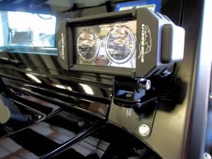 LX LED  - 6 Inch Enterprise 10 Watt Spot Jeep Kit 5591002 A-Pillar Windshield Bracket - Image 2