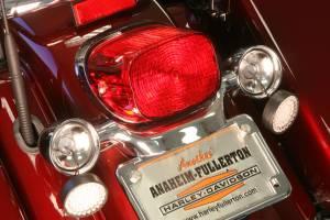 Lazer Star Billet Lights - Red Full Face LED Retro Fit LEDK53-156R2 Incl. Pair Of Red Harley Lenses - Image 2