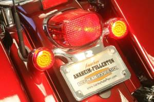 Lazer Star Billet Lights - Red Full Face LED Retro Fit LEDK53-156R2 Incl. Pair Of Red Harley Lenses - Image 3