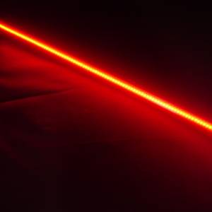 Lazer Star Billet Lights - Red 7 Inch LS537R-3  BilletLED Tube Mount - Image 2