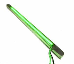 FlexLED & BilletLED - Black BilletLED - Lazer Star Billet Lights - Green 12 Inch  LS5412G  BilletLED Bottom Mount