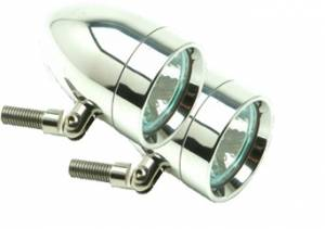 Lazer Star Billet Lights - 50-Watt Spot Pivot Mount Polished LSK1150 Bullet - Image 1