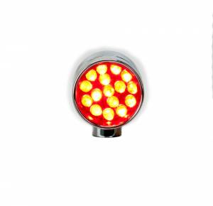 Lazer Star Billet Lights - Red Rigid Mount Chrome  LSK76801R-R Point Line XS - Image 5