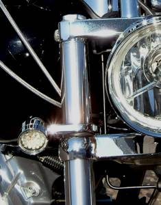 Lazer Star Billet Lights - 39 mm Chrome Finish LSM048-37539 Billet Tube Clamp - Image 3