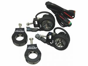 LX LED Driving Lights - Engine Guard Light Kits - LX LED  - 10 Watt Single Enterprise Motorcycle LED Light Kit