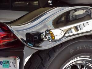 Vizor - Amber Rigid Mount Chrome V5801A Small Vizor - Image 4