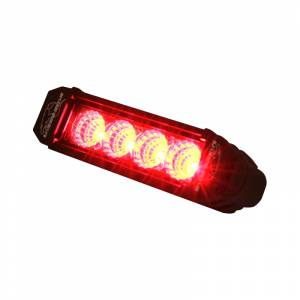 LX LED Lights - 3 Watt Atlantis® LED - LX LED  - 6 Inch Atlantis 3 Watt Flood 4 LED 13040205 Red LED
