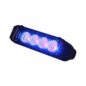 LX LED Lights - 3 Watt Racer Series LED - LX LED  - 6 Inch Atlantis 3 Watt Flood 4 LED 13040208 Blue LED