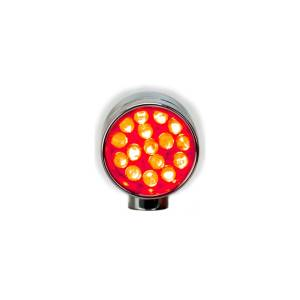 Lazer Star Billet Lights - Red Rigid Mount Chrome LSK6801R-R XS - Image 2