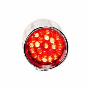 Lazer Star Billet Lights - Red Rigid Mount Chrome LSK3801R-R Micro-B - Image 3
