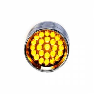 Lazer Star Billet Lights - Amber Rigid Mount Chrome LSK3801A-R Micro-B - Image 3