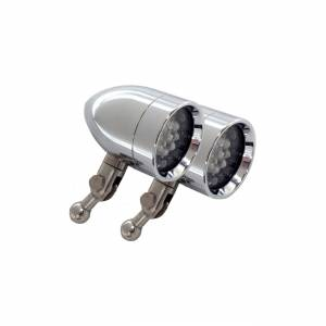 Micro-B Lights - LED Signal Lights - Lazer Star Billet Lights - Amber HD Handlebar Mount LSK3801A-H Micro-B  Chrome