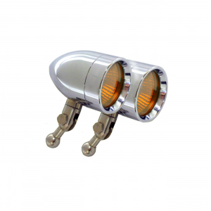 Halogen Driving & Signal Lights - Micro-B Halogen Driving & Signal Lights - Lazer Star Billet Lights - Amber HD Handlebar Mount LSK3820A-H Micro-B  Chrome
