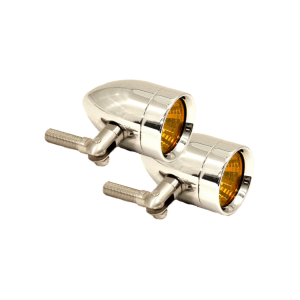 Micro-B Lights - Halogen Signal Lights - Lazer Star Billet Lights - Amber Pivot Mount Chrome LSK3820A Micro-B