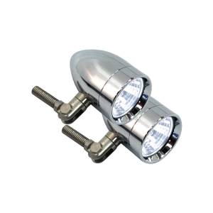 Halogen Driving Lights - Micro-B Halogen Driving Lights - Lazer Star Billet Lights - 35-Watt Spot Pivot Mount Polished LSK3135 Micro-B