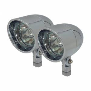 Applications - Truck Lighting - Vizor - 35 Watt Pivot Mount Chrome V8835 Large Vizor