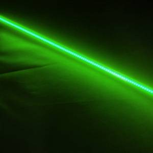 FlexLED & BilletLED - FlexLED - Lazer Star Billet Lights - Green 1 Inch LS521G FlexLED