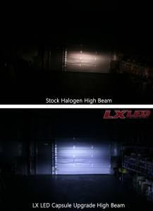 LX LED  - LX LED 40 Watt H4 / 9003 Base High-Low Upgrade Capsule Single 5751440 - Image 8