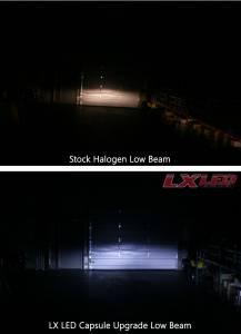 LX LED  - LX LED 40 Watt H4 / 9003 Base High-Low Upgrade Capsule Single 5751440 - Image 7
